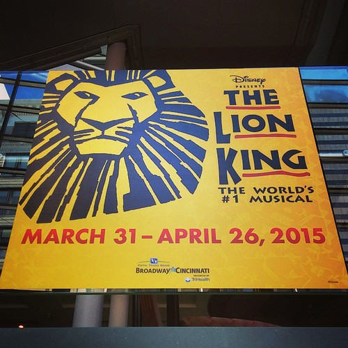 The Lion King starts tonight at the Aronoff Center!