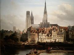 De Parijse kade in Rouen - Johannes Bosboom (1817-1891)