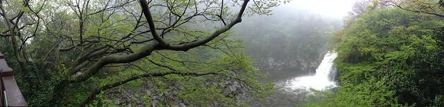 Panoramic of Waterfall #3 at Cheonjeyeon Falls