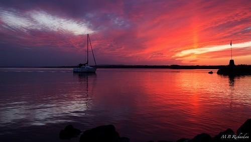 sunset water nireland antrim coantrim loughneagh canon6d 365in2015