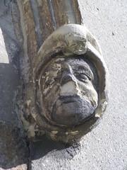 Hooded corbel head