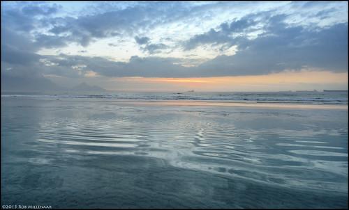 sunset beach landscape southafrica scenery milnerton westerncape