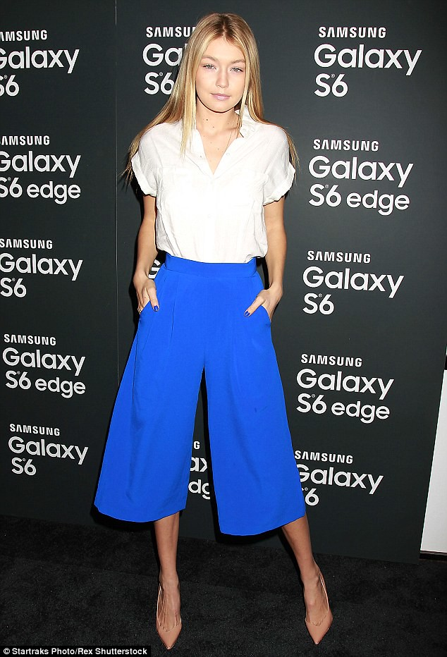 cobalt-blue-Finders-Keepers-culottes-nude-heels-loose-button-shirt