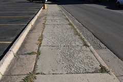 Deteriorating sidewalk