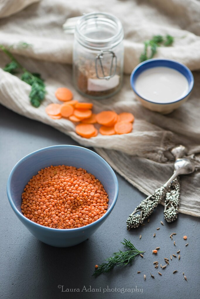 red lentils soup with cumin seeds