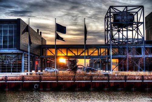 Harley Davidson Museum Sunset.