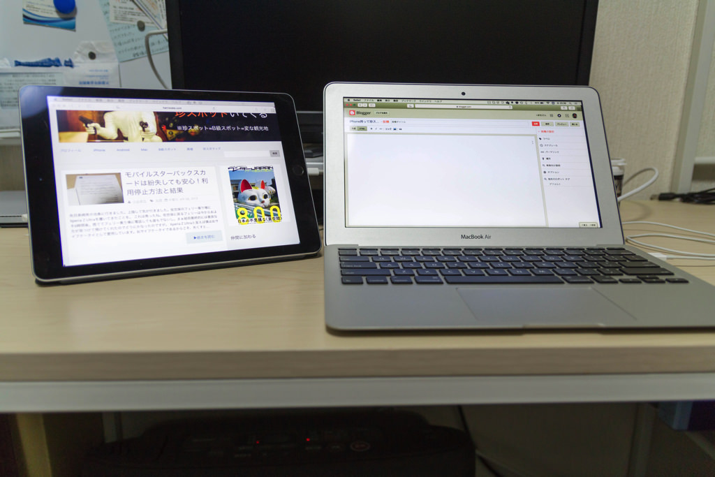 MacBook_AirとiPad_Air2