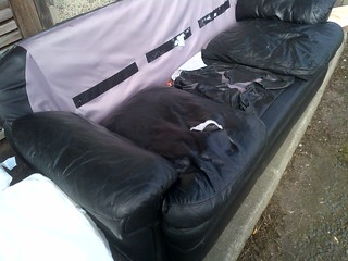 trashed sofa