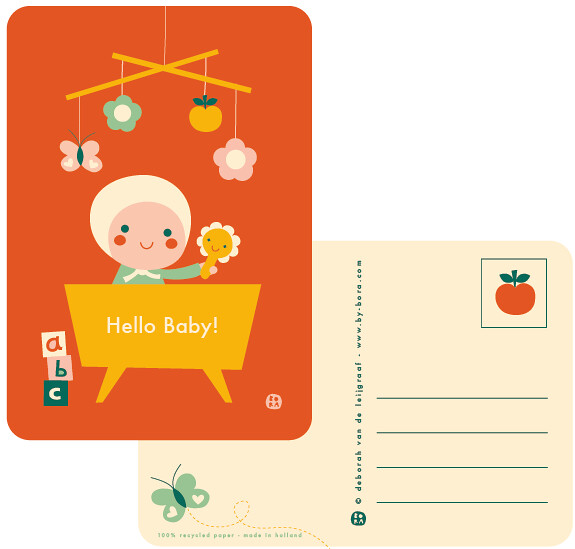 hello baby! card red