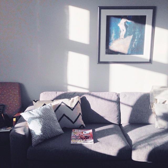 sol inn i stova, og eit nytt #kamilleideer å bli inspirert av.✨☀️💛
