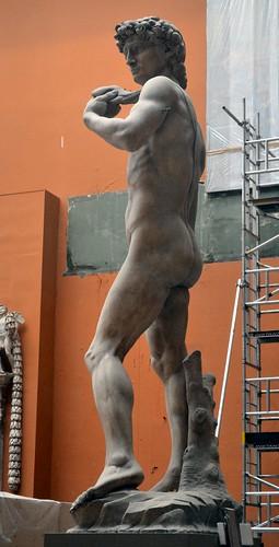 Michelangelo Buonarotti (1475-1564) - David (19th century plaster cast) below left, Victoria & Albert Museum, London, summer 2012