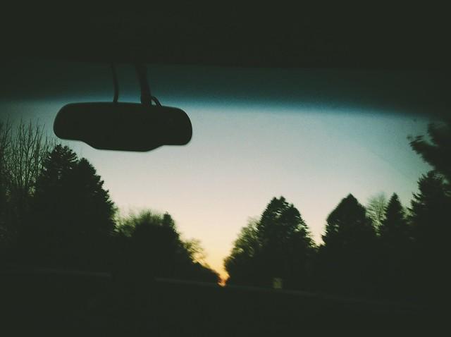 Sunset road pic.