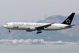 JA614A, Boeing 767-381ER, HKG/VHHH