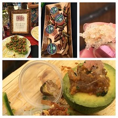 "@lunared serving up #cool #avocado and #tuna #ceviche and @citruburst fruit ""eggs"" @castorocellars #earthdayfoodandwinefestival #ispysip #shareslo"
