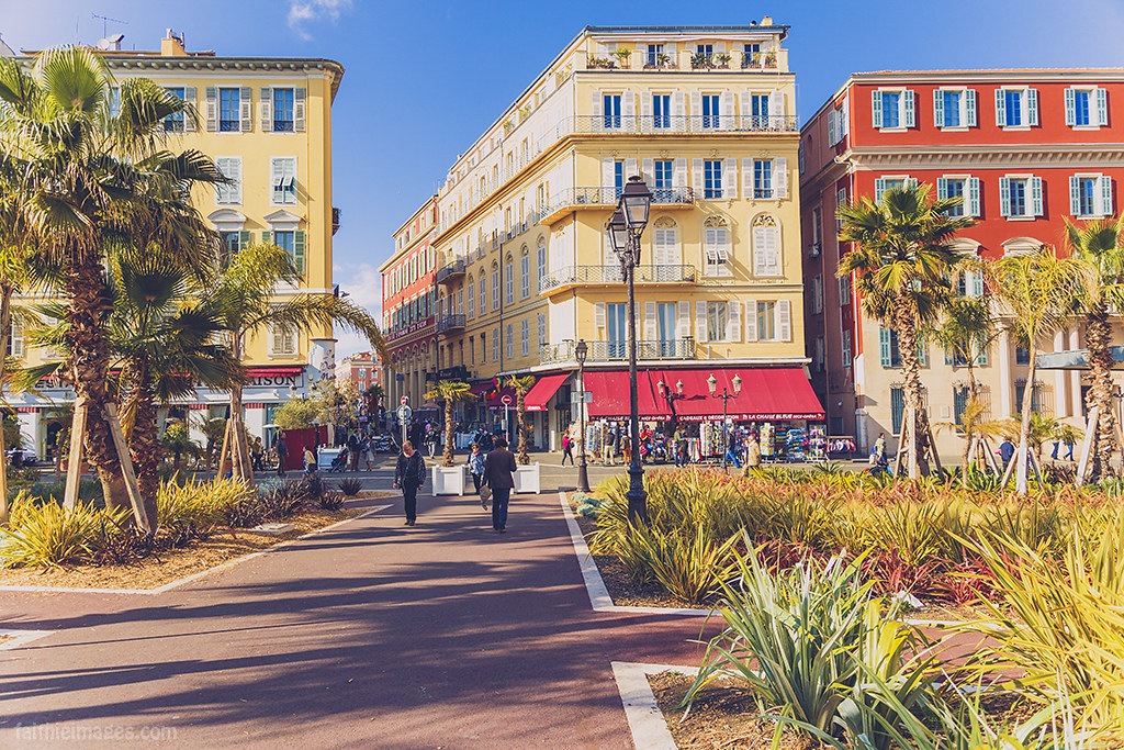 Picture perfect streets in Nice, France