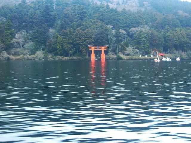 Torii in Lake Ashinoko