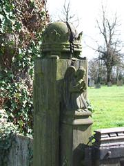 gatepost angel by Munro Cautley