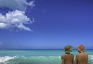 Image of Eden Beach. antigua hawksbillbay beach edenbeach clothingoptional naturist caribbean nude woman