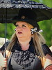 Woman with a black parasol, Prairie Fest, Fort Worth, April 25, 2015