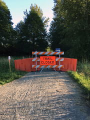 6/28/16 - Trail closure sign at the Union Bay Natural Area
