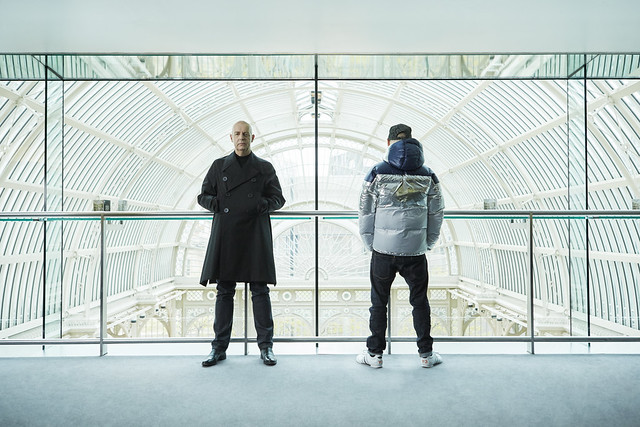 Pet Shop Boys in the Royal Opera House's Amphitheatre Bar overlooking the Paul Hamlyn Hall © Pelle Crépin