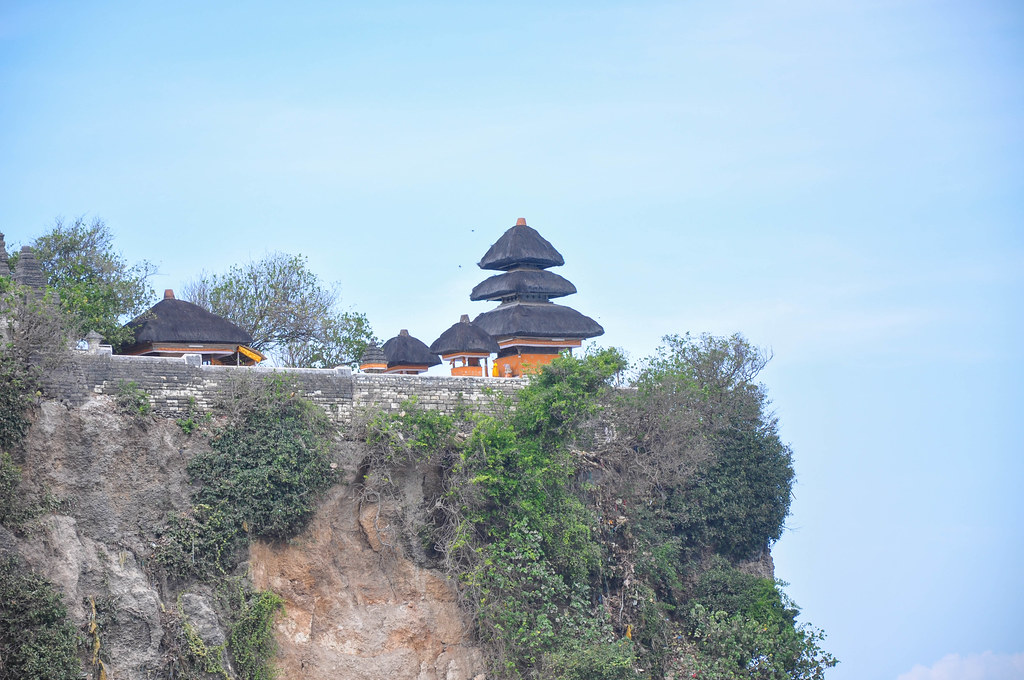 Pura Luhur Ukuwatu Temple on a steep cliff 70m. above the Indian ocean