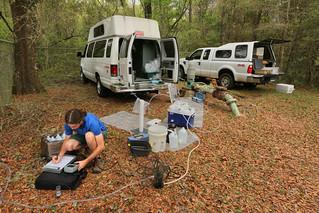 U. S. Geological Survey, National Water Quality Assessment (NAWQA), Upper Floridan Aquifer Water Sampling, Wakulla No. 2 Well, Wakulla County, Florida, Elliot Stahl 4