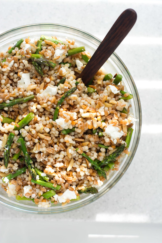 Grain Salad with Asparagus and Goat Cheese