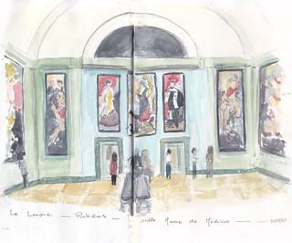 Le Louvre rubens salle Marie de Médicis