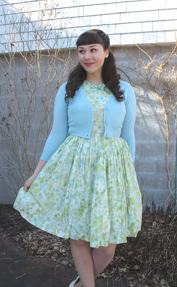 pastel spring dress