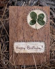 lucky clover birthday card
