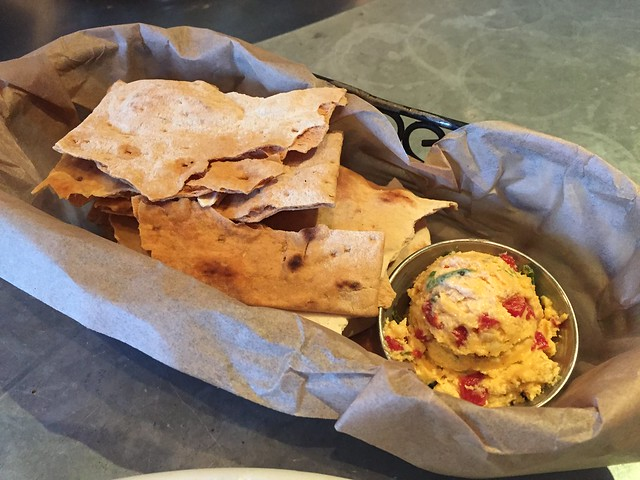 Flatbread and pimento cheese