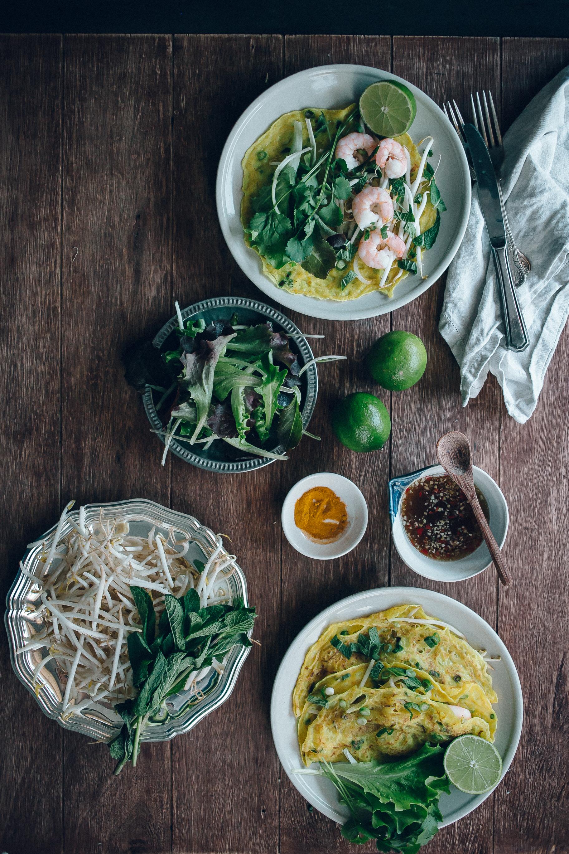 Vietnamese Savoury Prawn Pancakes