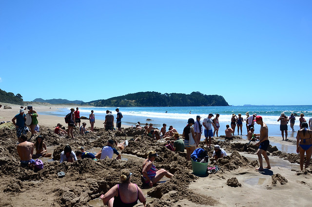 Hot Water Beach on the Coromandel, New Zealand.