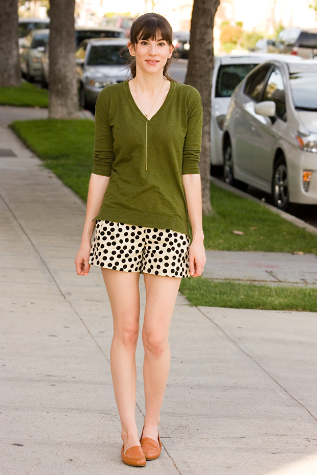 Polka Dot Shorts, J.Crew Factory