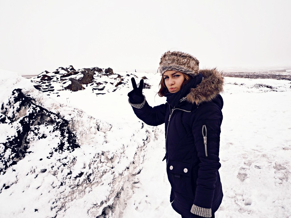 Iceland Gullfoss waterfall snow 1