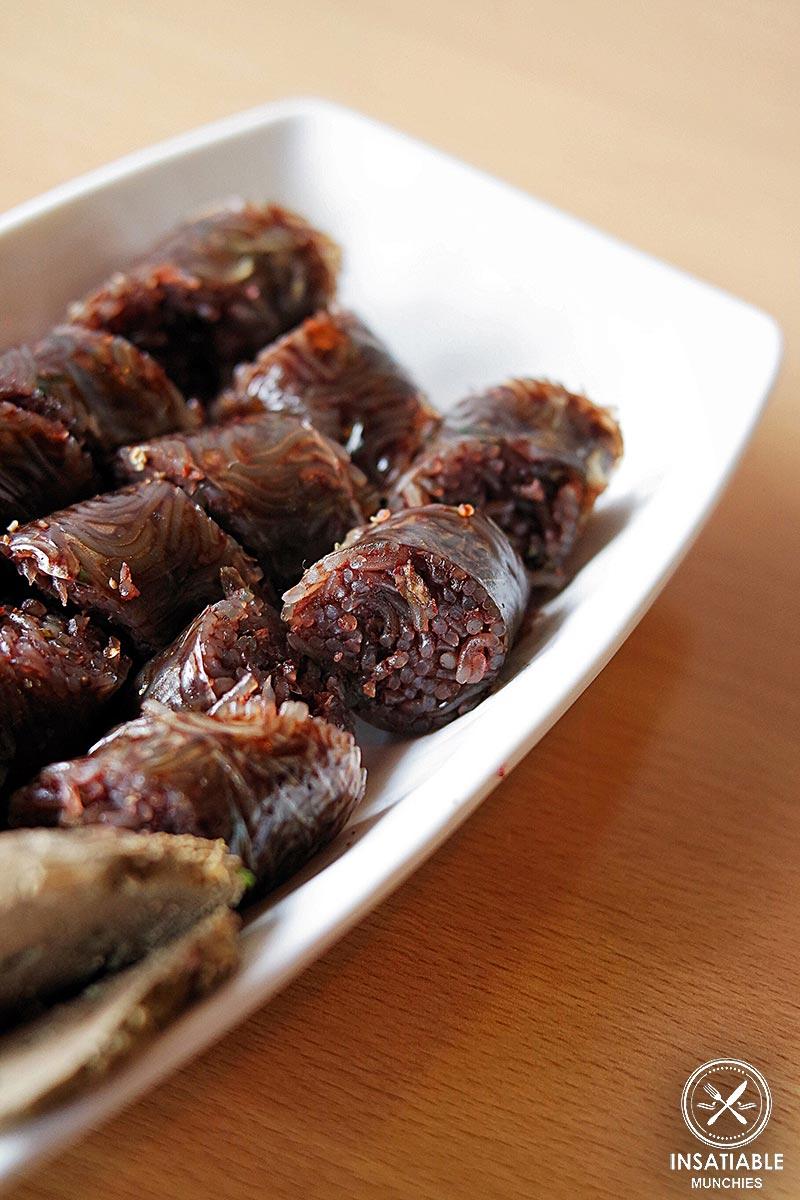 Soondae (Korean blood sausage), $10
