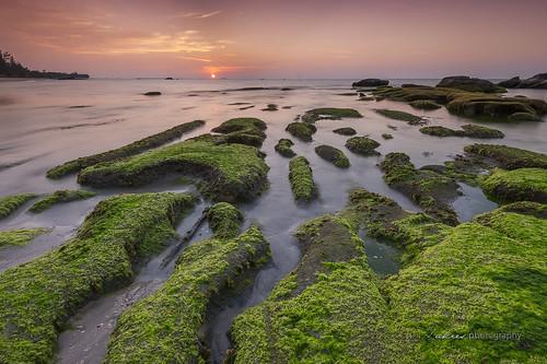 sunset rocky greenland malaysia mossy singleexposure sabahborneo nikond700 kudatsabah zakiesphotography zakiesimage