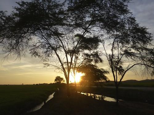 sunset peru atardecer carretera cloudy piura sullana