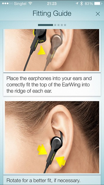 Jabra Sport Pulse - iOS App - Fitting Guide
