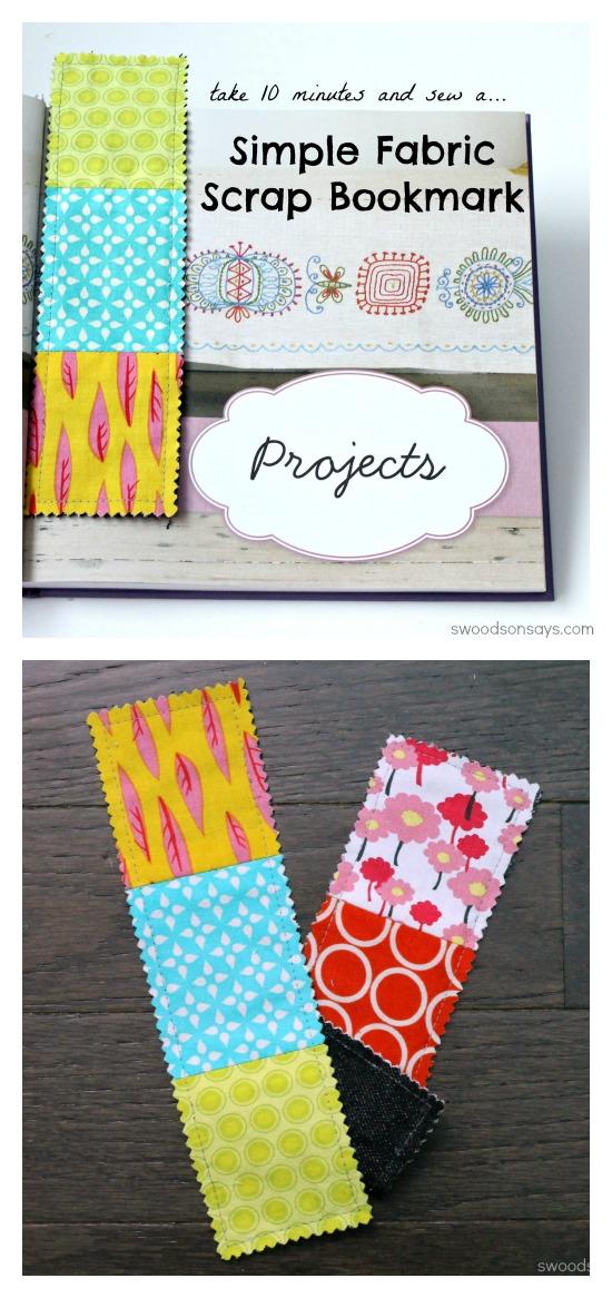 Fabric Scrap Busting Bookmark Tutorial