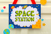 31a - Space Rocket - Party Sign - B44