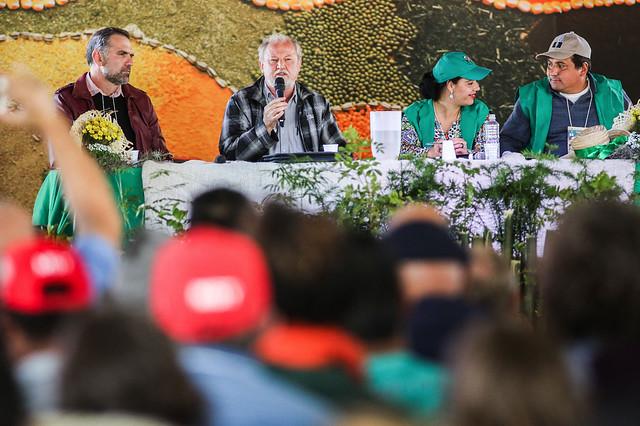 João Pedro Stedile, dirigente nacional do MST e o militante de agroecologia, Vanderley Ziger participam de análise de conjuntura - Créditos: Joka Madruga