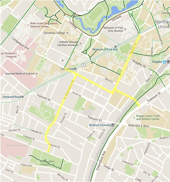 Mission Hill proposed bike boulevards