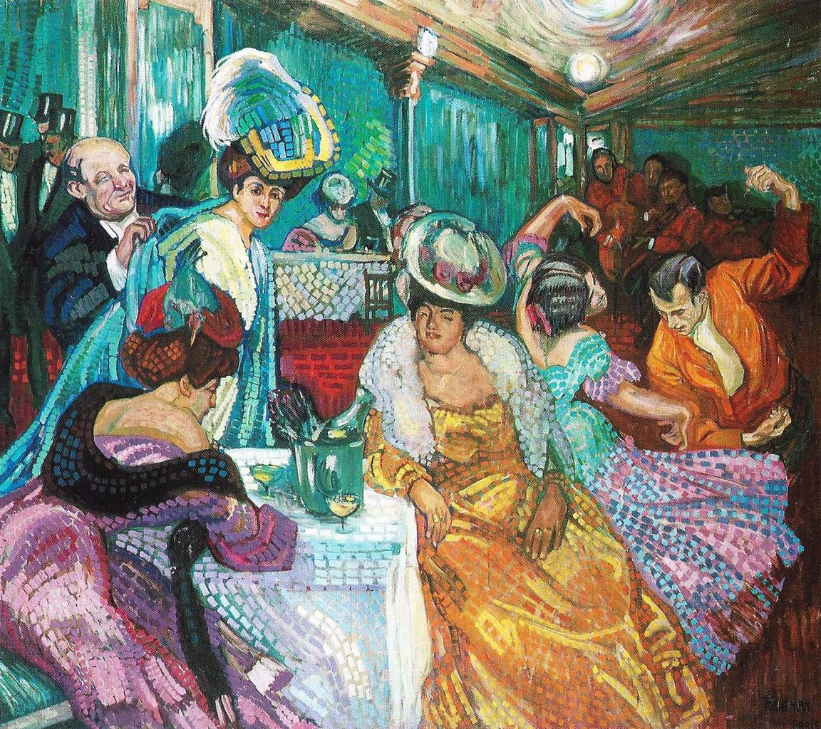 Night Cafe by Axel Torneman - circa 1905-1906