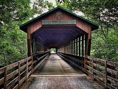 Ohio's second longest #coveredbridge called the Bridge of Dreams. It's 365' long!! #mohicanbiketrail #bridges #travel #backroads #visitohio #biketrails