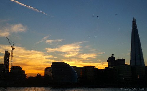 Sunset on the River Thames - London