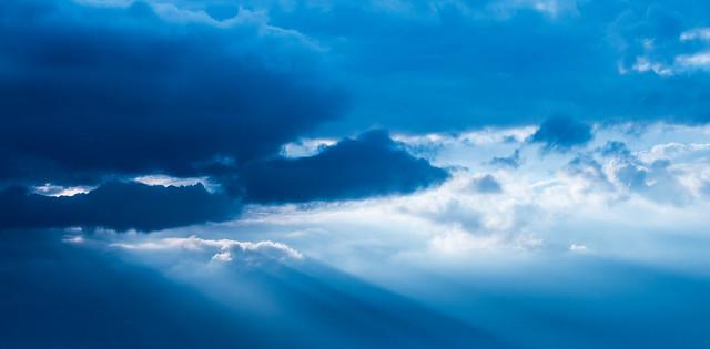 very blue sky