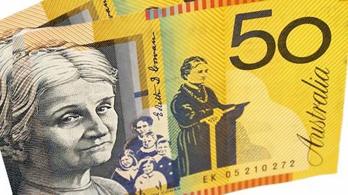 Woman on Australian banknote
