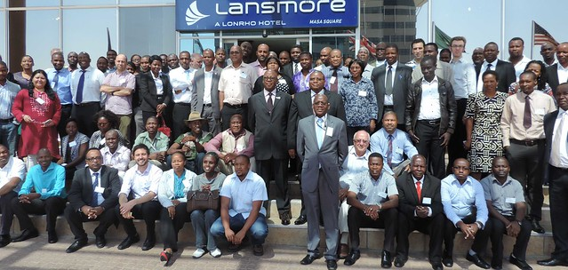 Participants group picture with the Botswana's Hon. Patrick Ralotsia, acting Minister of Agriculture